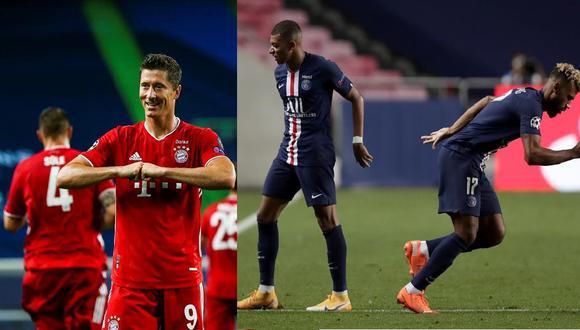 Bayern de Múnich y PSG se enfrentarán el domingo 23 de agosto en el Estádio da Luz de Lisboa (Fotos: EFE)
