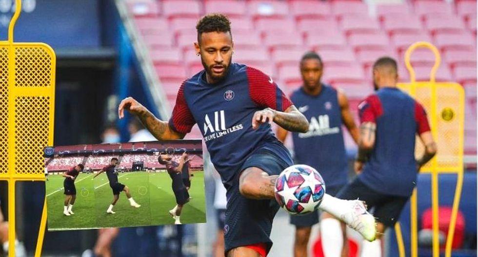 Neymar regala fantasía con este chicle previo a final de Champions League (VIDEO)