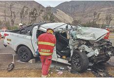 Hermanas mueren en accidente de tránsito y la bebé de una de ellas quedó herida en Áncash