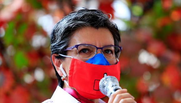 La alcaldesa de Bogotá, Claudia López, pidió perdón este domingo por los abusos de la fuerza pública. (Foto: AFP)