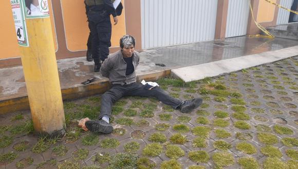 Fue intervenido por la Policía y entre sus pertenencias se hallaron tres casquillos percutados y uno sin percutar. (Foto: Difusión)