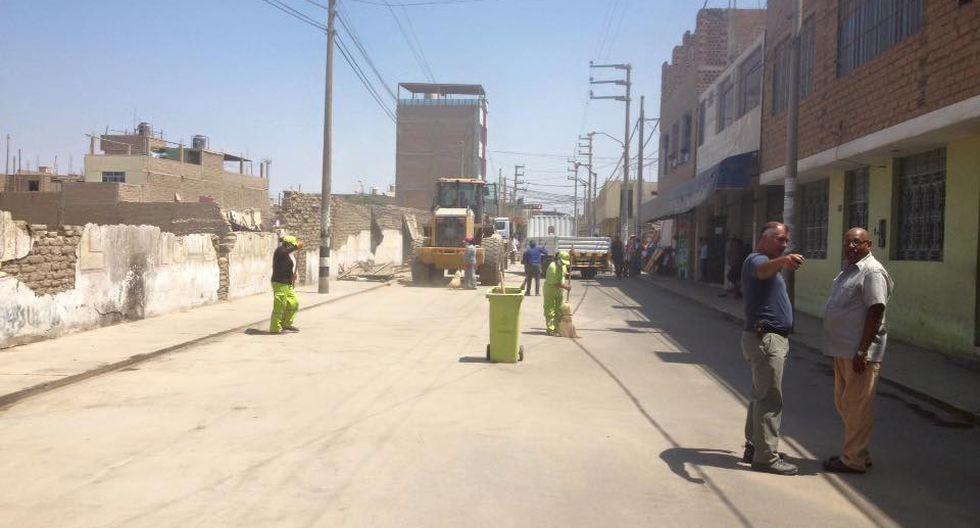 Liberan de comerciantes informales las calles de Chincha