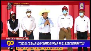 """Pedro Castillo: """"Piensan que con un tuit se cambia el país, pero así no es"""" (VIDEO)"""