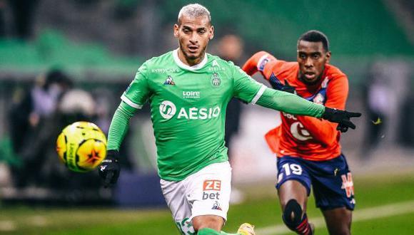 Miguel Trauco jugó ante Lille su segundo partido completo en la temporada de Saint-Étienne. (Foto: Saint-Étienne)