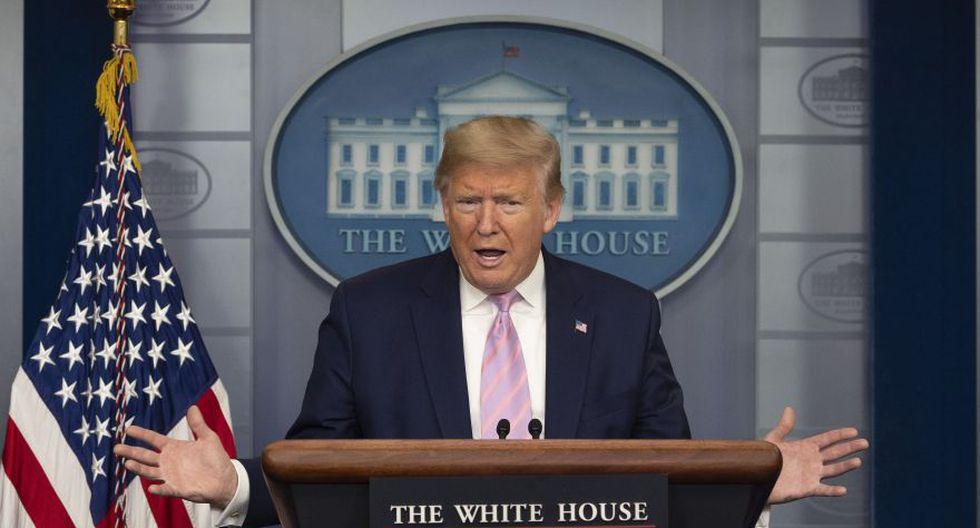 """""""Vamos a suspender [el envío] de las sumas destinadas a la OMS"""", declaró Trump durante su rueda de prensa diaria en la Casa Blanca. (Foto: AFP)"""