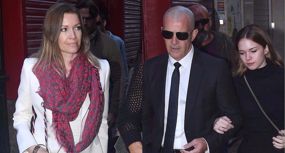 Antonio Banderas se refugia en su novia e hija tras la muerte de su madre