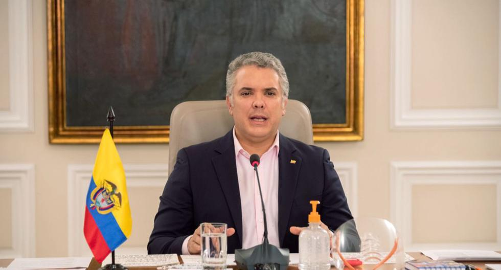 Iván Duque ordenó mantener hasta el 11 de mayo el aislamiento preventivo obligatorio como medida para evitar la propagación del coronavirus. (EFE/ Presidencia de Colombia).