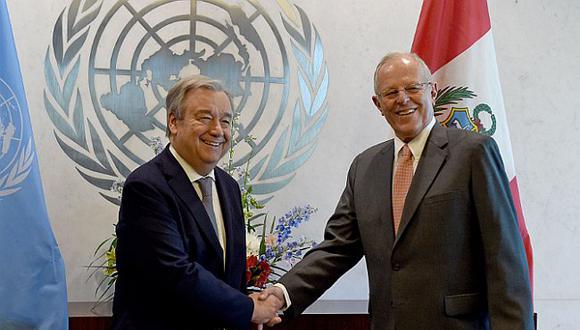 Pedro Pablo Kuczynski se reunió con secretario general de la ONU (VIDEO)