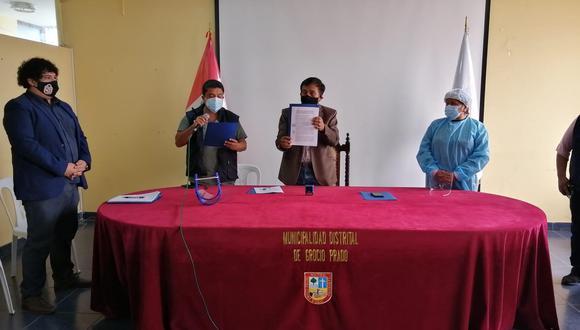 Chincha: Grocio Prado inicia proceso para instalar planta de oxígeno medicinal.