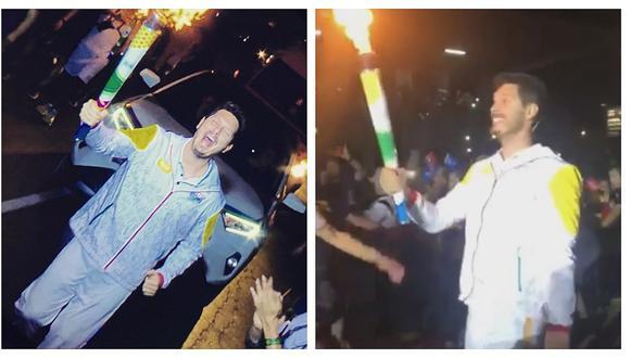 Cristian Rivero fue uno de los elegidos para llevar la Antorcha de los Juegos Panamericanos (VIDEO)