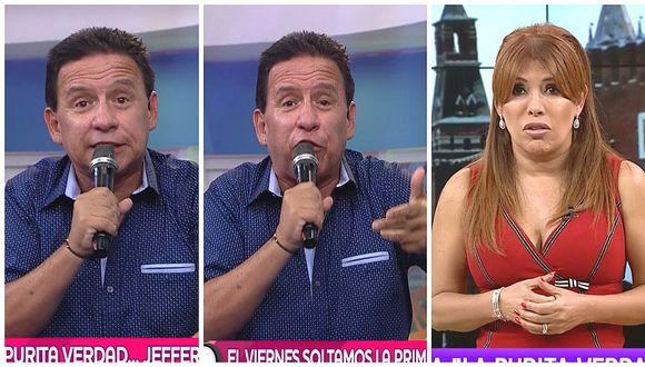 Ricardo Rondón se burla de Magaly Medina tras rechazo de Jefferson Farfán (VIDEO)