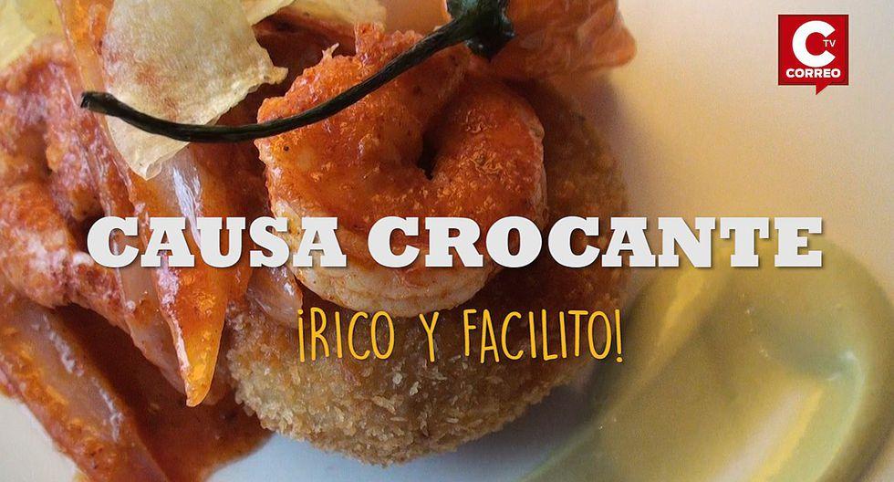 Rico y facilito: Anímate a preparar esta deliciosa Causa crocante (VIDEO)
