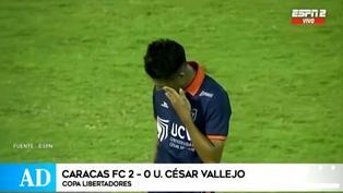 César Vallejo finalizó su participación en la Libertadores tras caer 2-0 ante Caracas FC