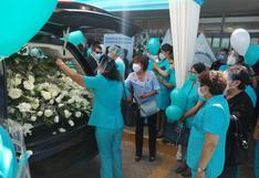 Hospital Honorio Delgado despidió a la enfermera Narda Berríos Manrique