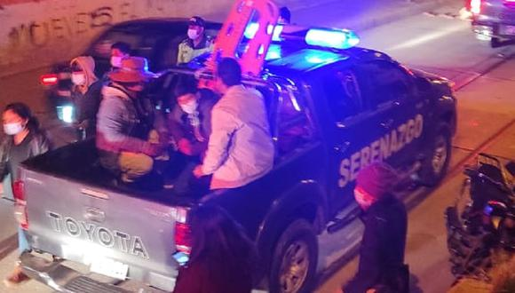 Intervenidos son trasladados a la comisaría de Huancavelica.