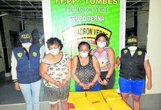 """Detienen a tres mujeres con """"ketes"""" de PBC y marihuana"""