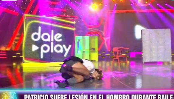 """Patricio Parodi se disloca el hombre durante su participación en """"Dale Play"""". (Foto: Captura América TV)"""