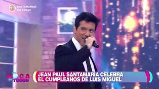 Jean Paul Santa María imita a Luis Miguel por su cumpleaños
