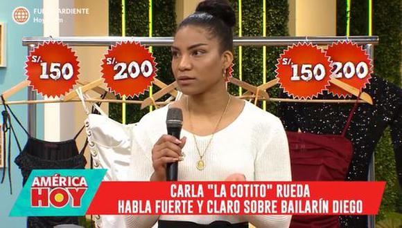 """Carla Rueda sobre bailarín con el que fue relacionada: """"Yo no sabía que tenía una relación"""". (Foto: captura de video)"""