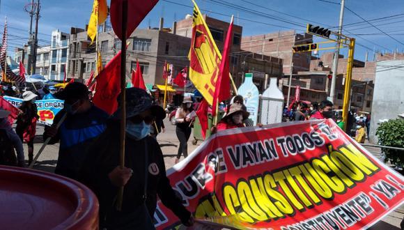 En movilización participaron diferentes organizaciones de Puno. (Foto: Difusión)