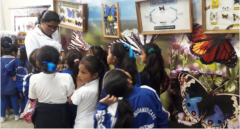 El Porvenir: Escolares visitan museo itinerante de Antrópodos en I. E. El Indoamericano
