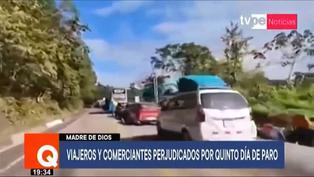 Madre de Dios: Cientos de pasajeros y transportistas varados por protesta de cocaleros (VIDEO)