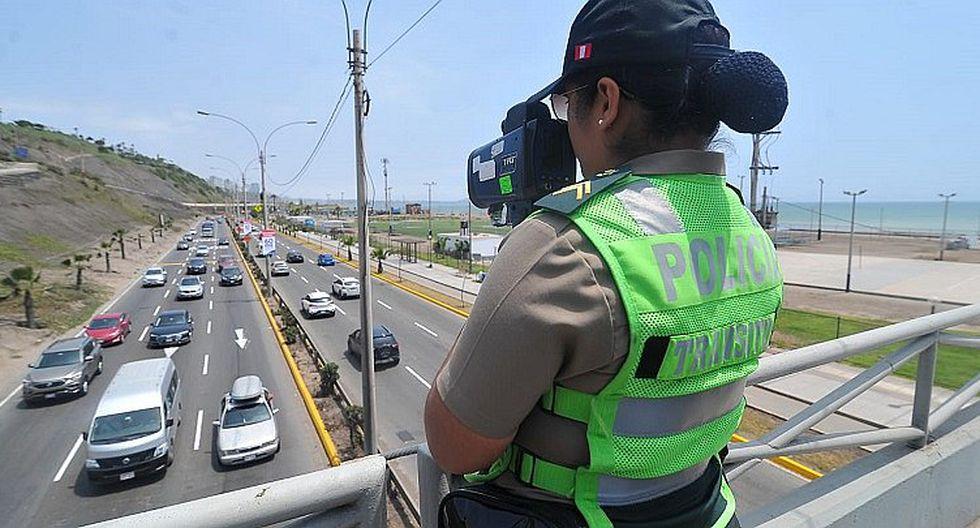 Instalan 9 puntos de control de velocidad en la Costa Verde