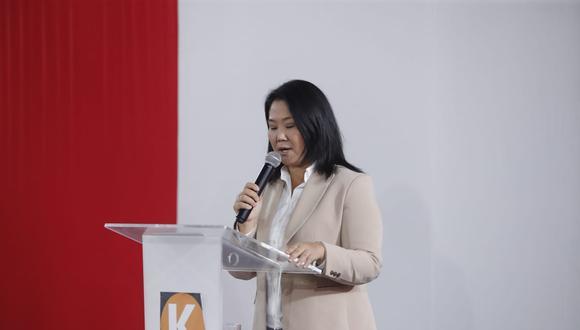 """""""No me queda duda que cada día se irán descubriendo nuevos elementos que permitirán conocer esta operación que Perú Libre desplegó para tomar el poder"""", afirmó Keiko Fujimori."""