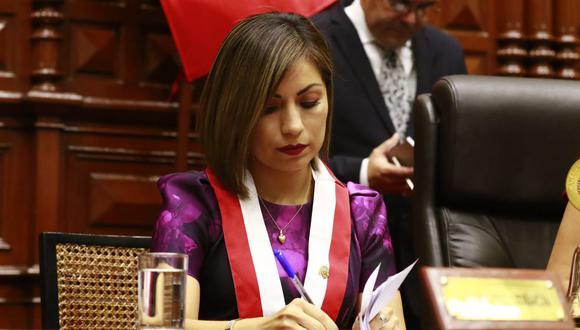 La actual legisladora Leslye Lazo es candidata al Parlamento Andino por Acción Popular. (Foto: Congreso de la República)