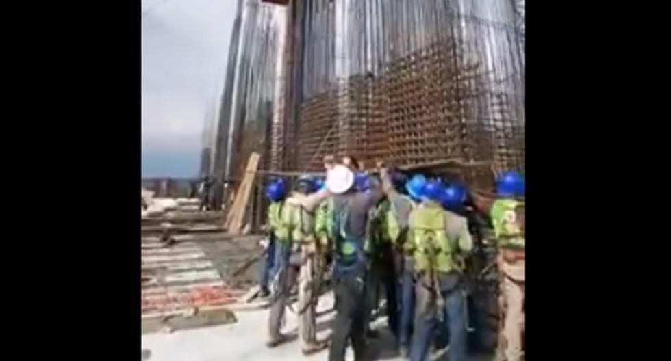 La Torre Mítikah se encuentra ubicada en la alcaldía de Benito Juárez en Ciudad de México. (Captura de video/Twitter).