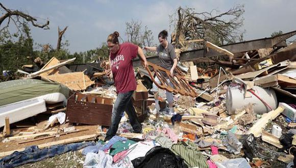 Dos familias peruanas lo perdieron todo por tornado en  Oklahoma