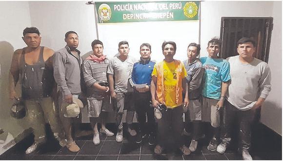Nueve detenidos por tratar de invadir terreno de un médico en Chepén