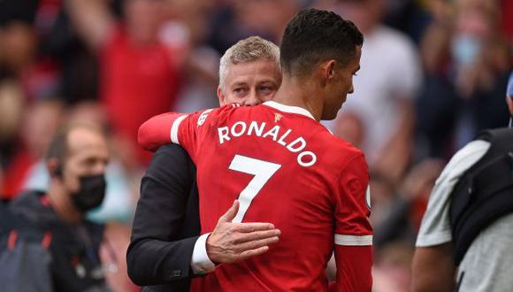 Ole Gunnar Solskjaer alabó a Cristiano Ronaldo por el debut con Manchester United. (Foto: AFP)
