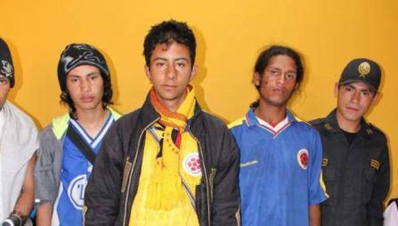 Detienen a barristas colombianos con terokal, marihuana y cuchillos