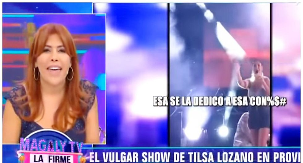 """Magaly Medina llama """"vulgar"""" a Tilsa Lozano tras ver su show junto al 'Zorro Zupe' (VIDEO)"""