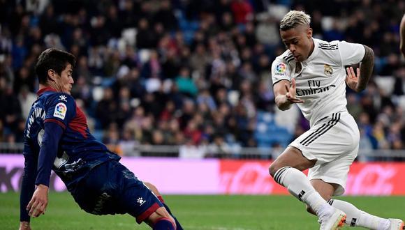 Mariano anotó un solo gol en la temporada con el Real Madrid. (Foto: AFP)