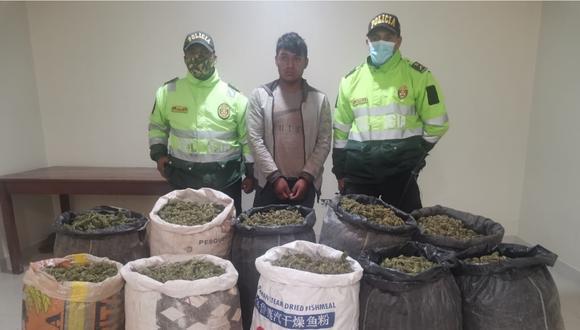 Droga iba a ser enviada a la ciudad de Lima. En lo que va del año se decomisaron 300 kilos de este alucinógeno. (Foto: PNP)