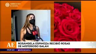 Rosángela Espinoza reveló tener misterioso admirador que le envía rosas