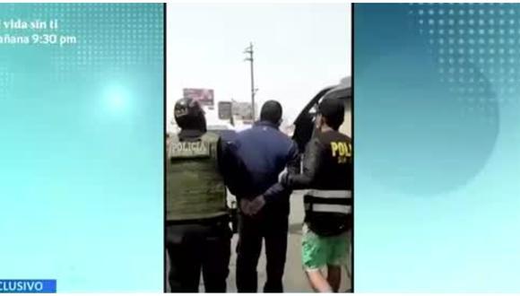 Capturan a extranjero que colocaba al paso brackets en Gamarra. (Foto: Captura América TV)