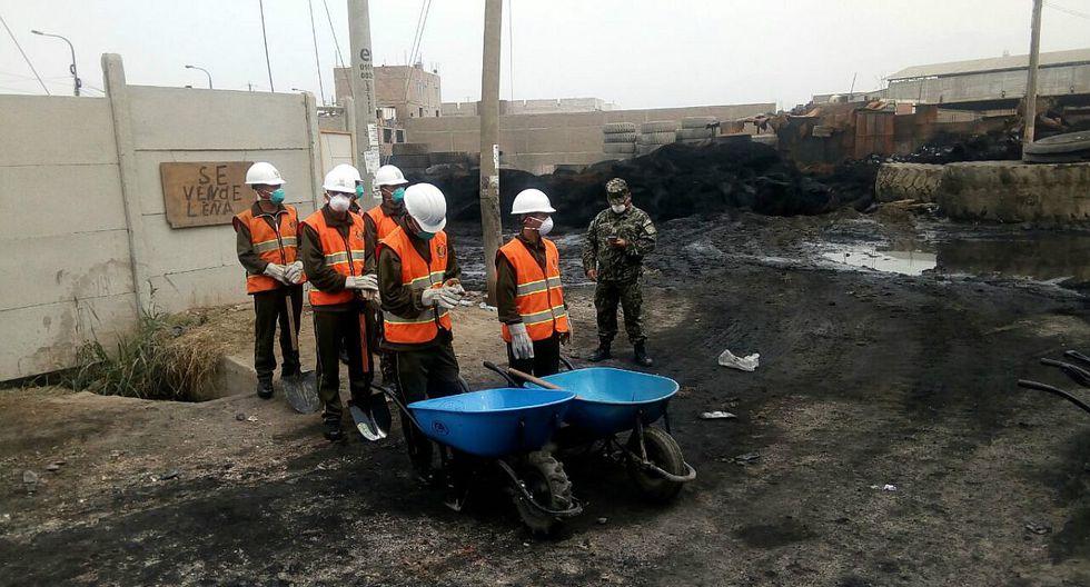 SMP: Remoción de escombros de incendio en depósito durará 15 días
