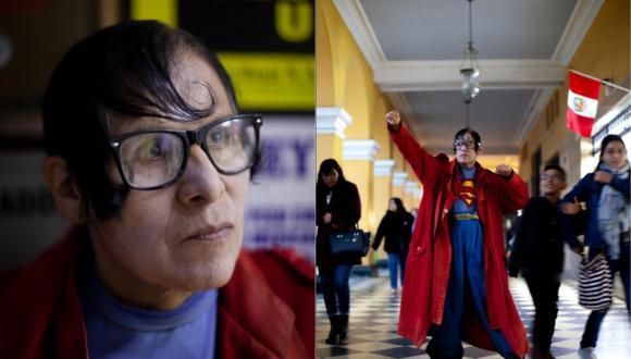 Esteban Abel Chávez Martínez, conocido como el 'Superman peruano', fue entrevistado por María Luisa Martínez de Univision. (Foto: GEC)