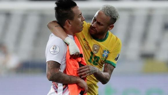 Christian Cueva confesó qué le dijo Neymar tras el final del Perú vs. Brasil. (Foto: EFE)
