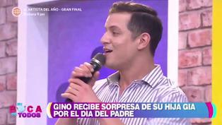 Gino Pesaressi se emocionó por el mensaje de su hija (VIDEO)