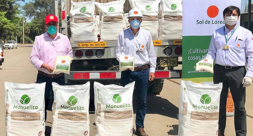 Empresa Laredo dona 5 toneladas de azúcar para familias vulnerables