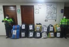 Huancavelica: Incautan 164 kilos de hoja de coca ilegal