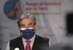"""Óscar Ugarte: """"Estamos en descenso de la segunda ola y esperamos que pueda culminar en próximas semanas"""""""