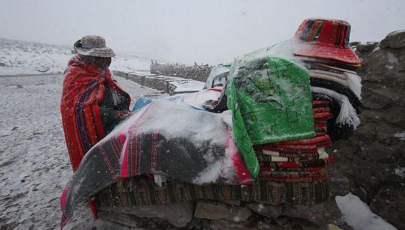 Fuertes vientos en la costa y lluvias con nevadas en la sierra de Arequipa