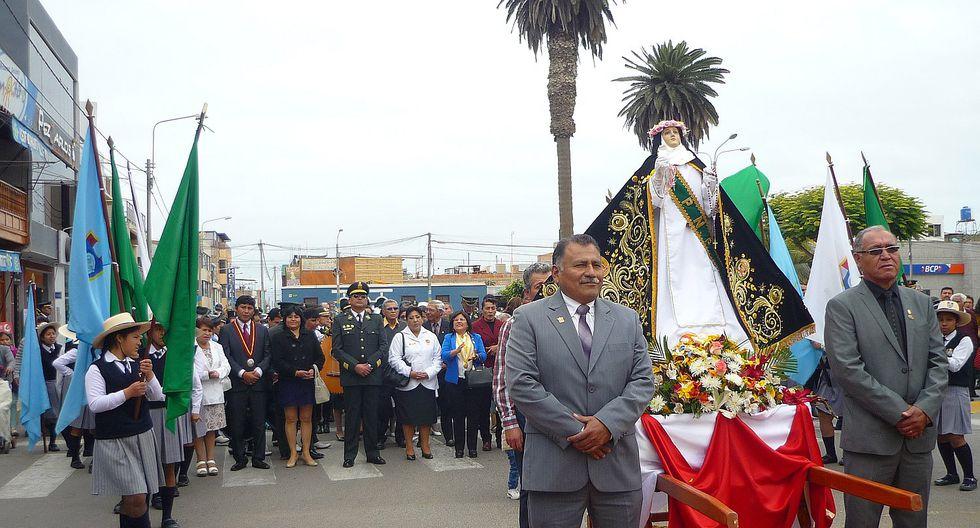 Multitudinaria procesión de la Patrona de las Américas en Camaná