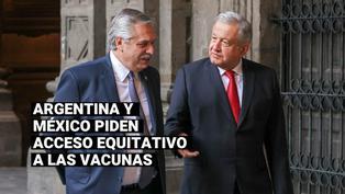 COVID-19: Fernández busca apoyo de México para plantear en G20 que la vacuna sea un bien global