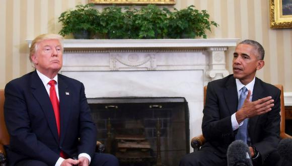 Estados Unidos | Donald Trump se resiste a desvelar el retrato del expresidente Barack Obama en la Casa Blanca. (AFP / JIM WATSON)